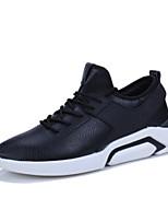 Недорогие -Муж. Комфортная обувь Искусственная кожа Весна & осень Кеды Белый / Черный