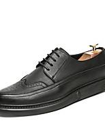 Недорогие -Муж. Комфортная обувь Микроволокно Весна & осень Туфли на шнуровке Черный / Желтый / Коричневый