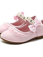Недорогие -Девочки Обувь Искусственная кожа Весна & осень Удобная обувь На плокой подошве для Дети Бежевый / Розовый