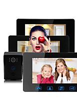Недорогие -Factory OEM Проводное Встроенный из спикера 7 дюймовый Гарнитура От одного до трех видеодомофонов