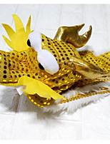Недорогие -Собаки Коты Плащи Ткань Одежда для собак Животное Золотой Ткань Костюм Назначение Зима Универсальные Новый год