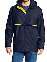 cheap -Men's Hiking Windbreaker Winter Outdoor Solid Color Thermal Warm Waterproof Windproof Breathable Jacket Full Length Visible Zipper Fishing Climbing Camping / Hiking / Caving Black / Blue / Grey