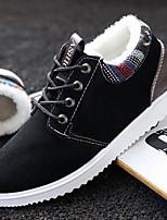 Недорогие -Муж. Комфортная обувь Замша Зима Кеды Черный