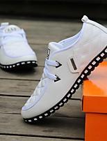 Недорогие -Муж. Комфортная обувь Полиуретан Лето Туфли на шнуровке Белый / Черный / Черный / синий
