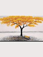 Недорогие -Hang-роспись маслом Ручная роспись - Пейзаж Цветочные мотивы / ботанический Modern Без внутренней части рамки