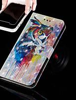 Недорогие -Кейс для Назначение Apple iPhone XR / iPhone XS Max Кошелек / Бумажник для карт / со стендом Чехол Сова Твердый Кожа PU для iPhone XS / iPhone XR / iPhone XS Max