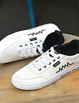 Недорогие -Муж. Комфортная обувь Искусственная кожа Весна Кеды Белый / Черный / Черный / Красный