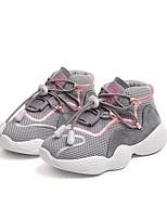 Недорогие -Девочки Обувь Сетка Осень Удобная обувь Спортивная обувь Беговая обувь для Дети / Для подростков Черный / Серый