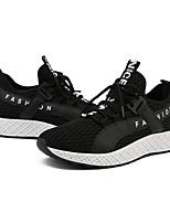 Недорогие -Муж. Комфортная обувь Сетка Весна & осень Мокасины и Свитер Ботинки Черно-белый / Черный / Красный