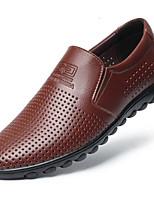 Недорогие -Муж. Комфортная обувь Микроволокно Лето Мокасины и Свитер Черный / Синий / Темно-коричневый