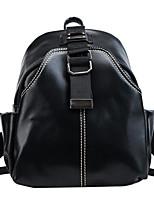 Недорогие -Жен. Мешки PU рюкзак Молнии Коричневый / Черный / Серый