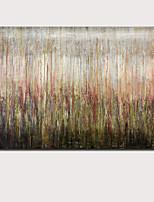 Недорогие -Hang-роспись маслом Ручная роспись - Абстракция Пейзаж Современный Modern Без внутренней части рамки