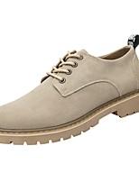 Недорогие -Муж. Комфортная обувь Кожа Весна Туфли на шнуровке Черный / Коричневый / Миндальный