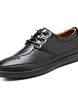 Недорогие -Муж. Комфортная обувь Искусственная кожа Весна & осень Туфли на шнуровке Черный / Темно-русый / Темно-коричневый