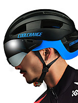 Недорогие -CoolChange Мотоциклетный шлем BMX Шлем 16 Вентиляционные клапаны Формованный с цельной оболочкой ESP+PC Виды спорта Велосипедный спорт / Велоспорт Мотобайк Мотоцикл - Черный Красный Синий