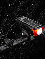 Недорогие -Светодиодная лампа Велосипедные фары Велосипедный рог Горные велосипеды Велоспорт Водонепроницаемый Портативные Прочный Перезаряжаемая батарея 350 lm Перезаряжаемый Солнечная энергия