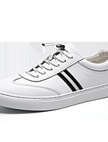 Недорогие -Муж. Комфортная обувь Кожа Весна Кеды Белый / Черно-белый