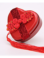Недорогие -Кубический / Круг (диаметр: 3 см) / Heart Shape Rustless Железо Фавор держатель с Гребень в виде цветка / Блеск Горшки и банки для конфет - 10 шт.
