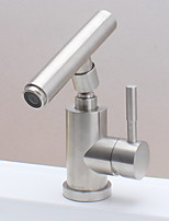 Недорогие -Ванная раковина кран - Широко распространенный Нержавеющая сталь Другое Одной ручкой одно отверстиеBath Taps