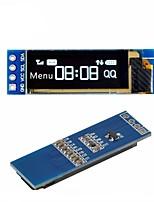 Недорогие -Модуль дисплея i2c oled 0,91 дюйма Драйвер белого экрана i2c ssd1306 oled dc 3.3v5v для arduino