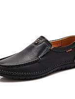 Недорогие -Муж. Комфортная обувь Наппа Leather Лето Мокасины и Свитер Черный / Желтый / Коричневый