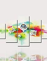 Недорогие -С картинкой Роликовые холсты - Абстракция Модерн Классика Modern 5 панелей