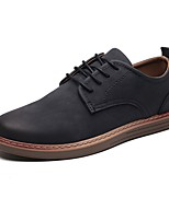 Недорогие -Муж. Комфортная обувь Микроволокно Осень Туфли на шнуровке Черный / Темно-коричневый