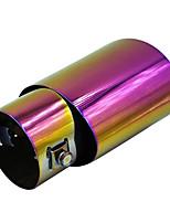 Недорогие -60 мм диаметр входного отверстия из нержавеющей стали автомобиль автомобиль универсальный выхлопной патрубок глушитель наконечник