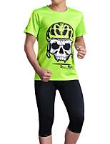 Недорогие -cheji® Муж. С короткими рукавами Велокофты - Зеленый Синий Оранжевый + белый Велоспорт Джерси Виды спорта Другое Горные велосипеды Шоссейные велосипеды Одежда