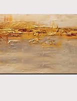 Недорогие -Hang-роспись маслом Ручная роспись - Абстракция Пейзаж Современный Modern Включите внутренний каркас