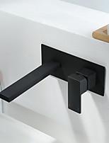 Недорогие -Ванная раковина кран - Широко распространенный черный Другое Одной ручкой одно отверстиеBath Taps