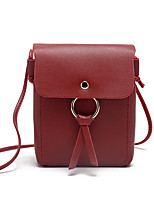 Недорогие -Жен. Мешки PU Мобильный телефон сумка Сплошной цвет Розовый / Серый / Коричневый