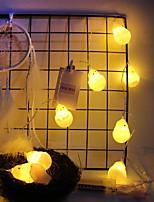 Недорогие -1,5 м Гирлянды 10 светодиоды Тёплый белый Декоративная Аккумуляторы AA 1 комплект