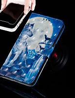 Недорогие -Кейс для Назначение Apple iPhone XR / iPhone XS Max Кошелек / Бумажник для карт / со стендом Чехол Животное Твердый Кожа PU для iPhone XS / iPhone XR / iPhone XS Max