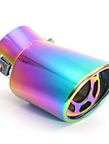Недорогие -Наконечник глушителя задней выхлопной трубы автомобиля из нержавеющей стали 60 мм универсальный изогнутый