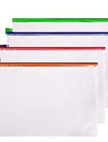 Недорогие -4 pcs deli 33182 Папки файлов A4 PVC Прозрачный Custom Label