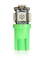 Недорогие -T10 194 168 2825 5SMD 5050 светодиодный зеленый супер яркий автомобиль клин лампы