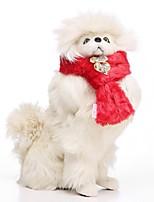 Недорогие -Собаки Шарф для собаки Одежда для собак Персонажи Красный Розовый Хаки 100%коралловый флис Костюм Назначение Бульдог Мопс Бишон Фриз Осень Зима Мужской Сохраняет тепло Бижутерия
