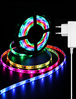 Недорогие -ZDM® 5 метров Гибкие светодиодные ленты / Наборы ламп / RGB ленты 150 светодиоды 5050 SMD 1 адаптер питания x 2A Водонепроницаемый / Новый дизайн / Для вечеринок 100-240 V / 12 V 1 комплект