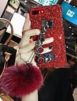 Недорогие -Кейс для Назначение Apple iPhone XS Max / iPhone 6 Сияние и блеск Кейс на заднюю панель Однотонный Твердый пластик для iPhone XS / iPhone XR / iPhone XS Max