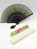 Недорогие -Взрослые Муж. Жен. азиатский кисточка В китайском стиле Складной карманный вентилятор Косплэй Kостюмы Назначение Для вечеринок На каждый день Подарок Бамбук Суанская бумага Складной ручной вентилятор