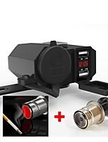 Недорогие -WOSAWE Мотоцикл Прикуриватель 2 USB порта для 12 V