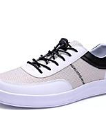 Недорогие -Муж. Комфортная обувь Лён / Полиуретан Весна На каждый день Кеды Нескользкий Контрастных цветов Белый / Бежевый / Светло-Зеленый