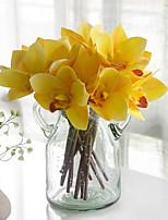 Недорогие -Искусственные Цветы 4.0 Филиал Классический Свадебные цветы Пастораль Стиль Орхидеи Вечные цветы Букеты на стол