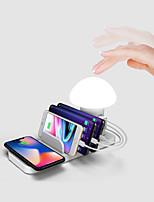 Недорогие -Brelong WUICK зарядка 3.0 USB зарядка грибов привели погладить ночник портативный 3-портовый USB-концентратор настенное зарядное устройство база для Iphone XS XR X 8 Ipad площадку мини воздуха Samsung