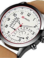 Недорогие -Муж. Спортивные часы Нарядные часы Наручные часы Кварцевый Кожа Черный / Коричневый Творчество Cool Аналого-цифровые Роскошь Мода - Коричневый Черно-белый Хаки Один год Срок службы батареи
