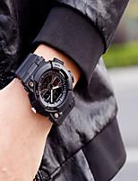 Недорогие -Муж. Спортивные часы Цифровой Черный Защита от влаги Календарь Секундомер Аналого-цифровые На каждый день Мода - Серебряный Оранжевый Синий