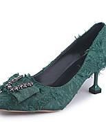 Недорогие -Жен. Полиуретан Весна На каждый день Обувь на каблуках На каблуке-рюмочке Заостренный носок Черный / Зеленый