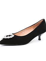Недорогие -Жен. Кожа Осень Обувь на каблуках На каблуке-рюмочке Черный / Винный