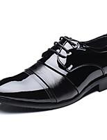Недорогие -Муж. Официальная обувь Искусственная кожа Весна лето Деловые / Классика Туфли на шнуровке Массаж Черный / Свадьба / Для вечеринки / ужина